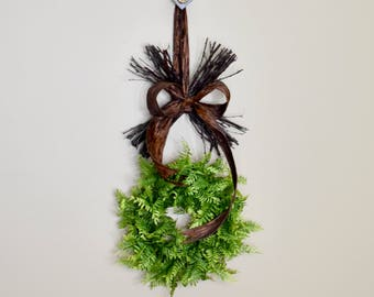 "24"" XO Wreath, Valentine's Day Wreath, Green and Brown Wreath, Hugs and Kisses Wreath,  Love Wreath, Grapevine Wreath, Wreath,Wreaths"