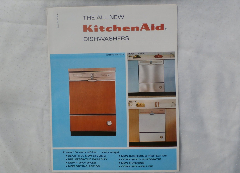 KitchenAid Dishwashers 1960s Advertising Brochure Kitchen Aid