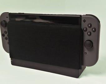 Nintendo Switch Black Dock Sock Microfiber Protector, Nintendo Case, Dock Cover, Switch Cover