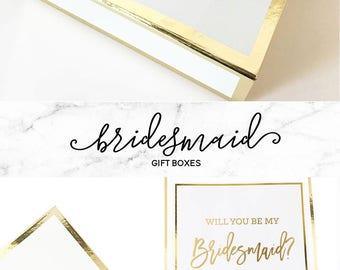 Bridesmaid Gift Box Bridesmaid Boxes Personalized Gift Box Bridesmaid Personalized Bridesmaid Box (EB3171BPW) PERSONALIZED EMPTY BOX