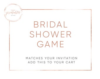 Matching Games, Bridal Shower, Bridal Shower Invitations, Bridal Shower Games, Shower Games, Printable Games, Printable Shower Games, Bride