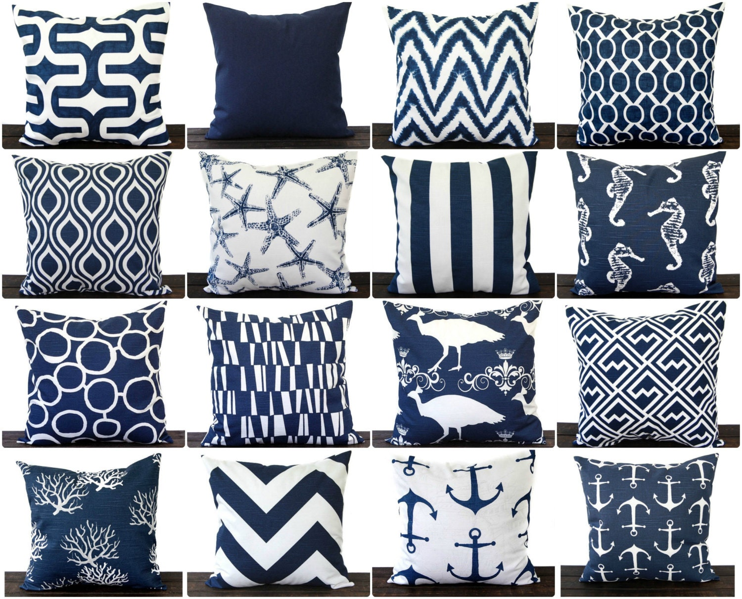 Navy Blue throw pillow cover One cushion cover in Premier Navy