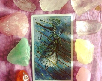 Tarot Card Reading, Divination, Intuitive Reading using Crystals
