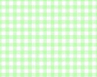 Windham - Basic Pastels - 29104-13 - Gingham - Green - Checks - Spring - Summer - Picnic - Easter - One More Yard