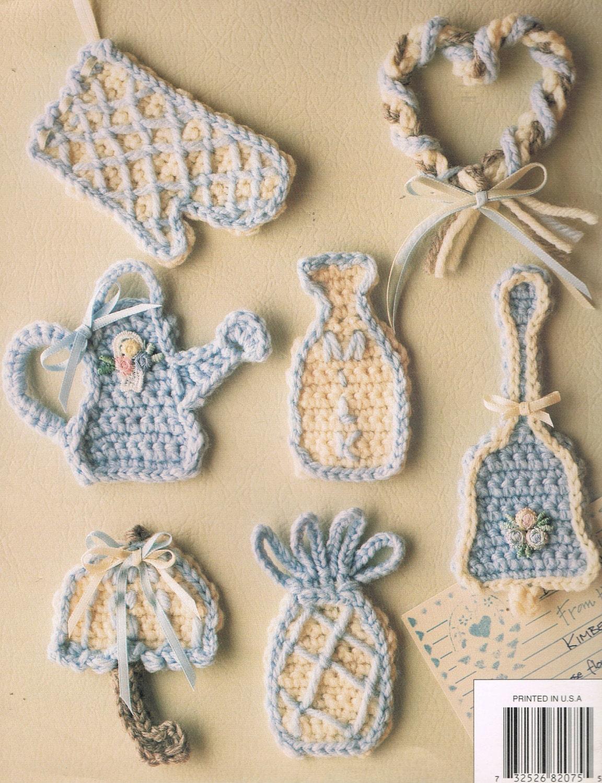 Crochet patrones - 8BO75 ático de hilo Vintage Crochet patrón ...