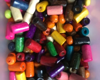 Assorted Colorful Wooden Beads 8mm