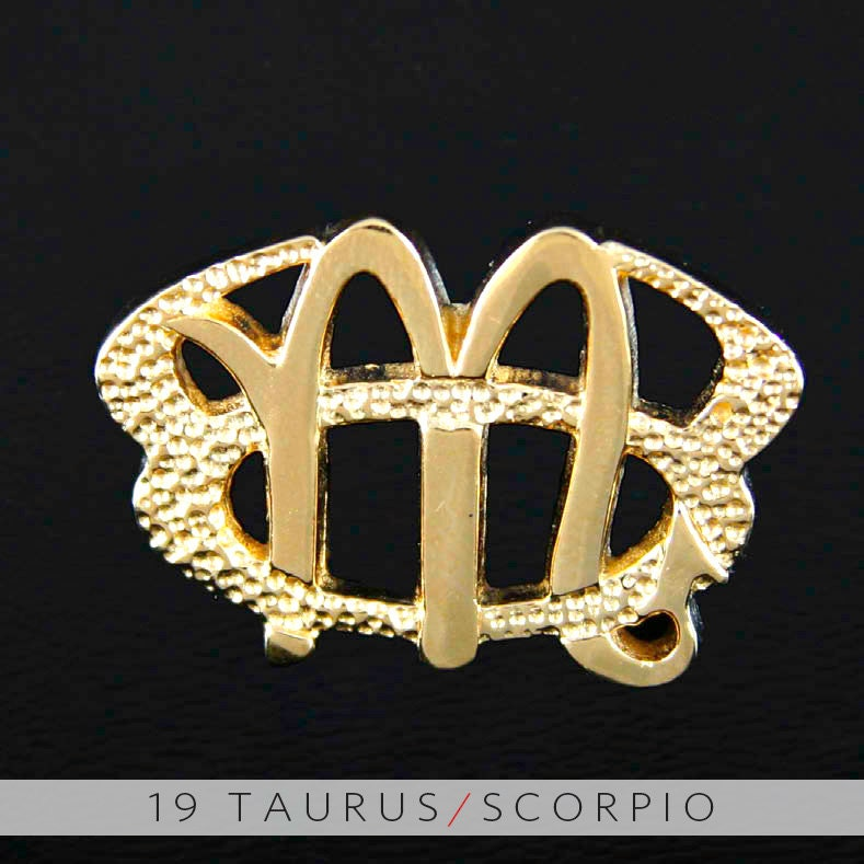 19 taurus and scorpio gold unity pendant mozeypictures Image collections