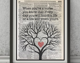 Nursing Print, Nurse Prints,Nursing,Nursing Gifts,Nurses Quotes,Nurses Heals Souls , Nurse Vintage,Vintage Dictionary Prints, Dictionary Art