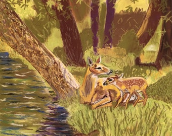 Deer wall art