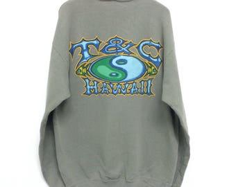 Vintage T and C Hawaii Sweatshirt / TC Surf Hawaiian/ Tc Surf T Shirt / Tc Surf Jacket / Hawaiian / Surf Surfing / Surfboard