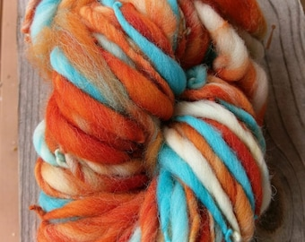 Bulky thick and thin art  yarn