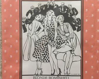 Folkwear Pattern #239: Blonde Bombshell Dress and Sweater; SZ 6-16