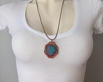 Art Deco Jewelry Handmade Art Deco Necklace Boho Necklace Long Polymer Clay Jewelry Art Deco Pendant Abstract Jewelry Avant Garde Jewelry