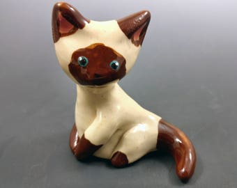 Ceramic Siamese Cat Figurine
