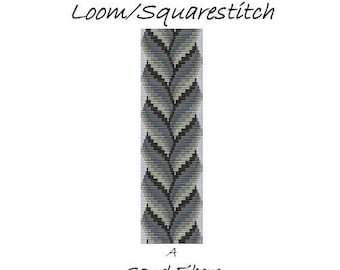 Bargello Braid Loom/Squarestitch Cuff - A Sand Fibers For Personal Use Only PDF Pattern - 3 for 2 Savings Program
