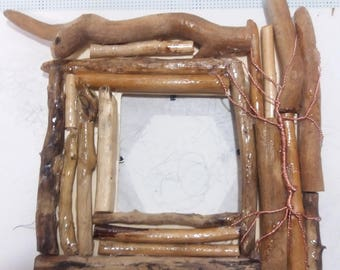 Table photo Frame made of wood and copper