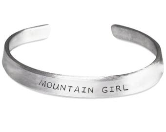 Mountain Girl - Silver Bracelet - Unique Gift