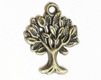 6 pcs of Antique Brass Tree of life pendant 17x22mm