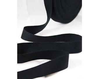 """3/4"""" Black Cotton Twill Tape, Black Cotton Twill Tape, Twill Tape, THIN-WEIGHT Cotton Tape, Sewing Tape, Crafting, Stamping, Waterproof Tape"""