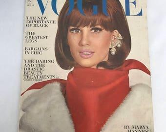 Vintage Vogue Magazine August 15, 1964