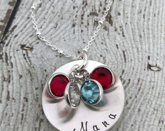Mothers Day Gift for Grandma, Nana Necklace, Birthstone Necklace for Grandma, Grandma Gift, Nana Gift, Grandmother Jewelry, Mom Jewelry