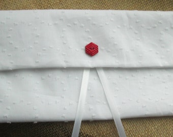 Fabric Envelope-Holder for Your Patriarchal Blessing- Beautiful White Floral Fabric-LDS Young Womens-Patriarchal Blessing Envelope