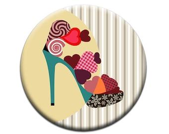 Cute Fridge Magnet, Refrigerator Magnet, Love Gift, Gift For Her, Shoe Lover Gift, Valentines Day