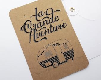 The great adventure - caravan kraft card