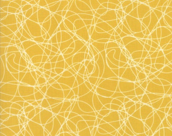 Mixed Bag 2017 Tangles fabric in Sunshine Yellow by Studio M for Moda Fabric #33204-23