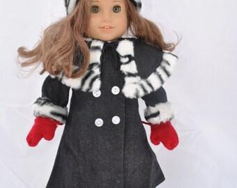 Winter Coat for 18 Inch Dolls like American Girl