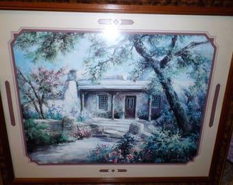 Vintage, Large Print, Lee K Parkinson, Framed Art, Signed Art, Gift For Her, Home Decor, Limited Edition, Summer Landscape, English Cottage
