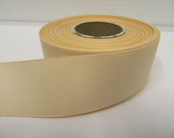 Grosgrain Ribbon 3mm 6mm 10mm 16mm 22mm 38mm 50mm Rolls, Ivory, 2, 10, 20 or 50 metres, Ribbed Double sided,