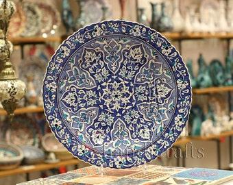 Iznik Design Handmade Ceramic Plate - 40cm/16''