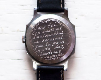Mens watch, Personalized watch, Engravable watch, Engraved watch, Engraving watch, Mechanical watch ,Russian watch
