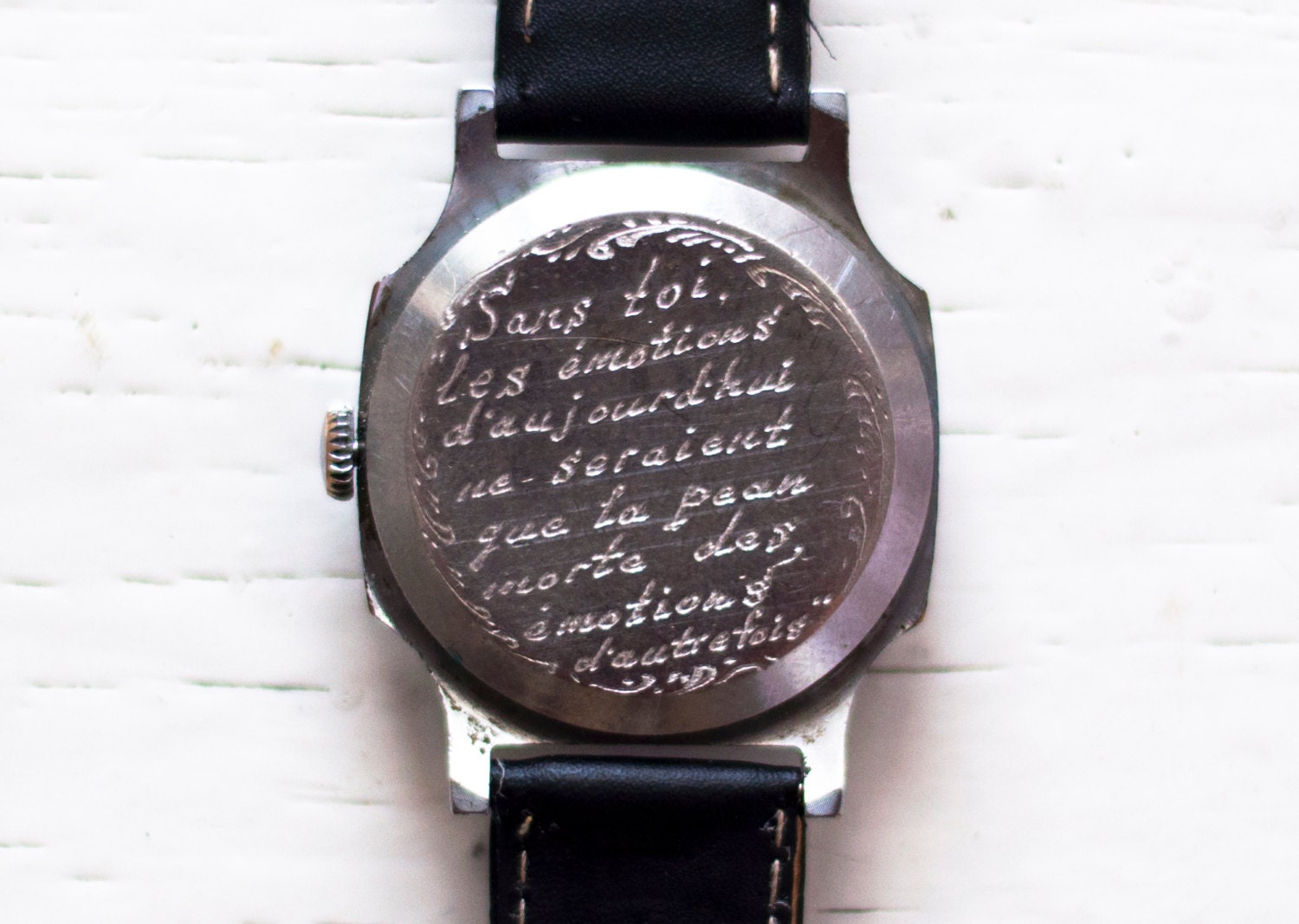 message life watch product engraving engraved with original designs pocket personalised by wildlifedesigns wild watches