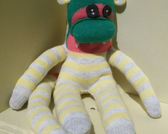 Sock Monkey Toy Watermelon Pattern | Quirky Box of Critters