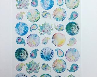 Creating calm - planner/jounal stickers (decorative)