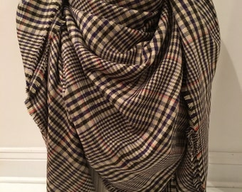 Plaid blanket scarf oversized bloggers large scarf Zara inspired Soft blanke scarf