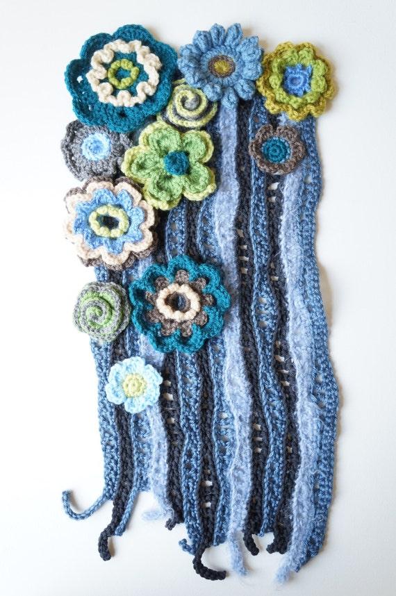 Items similar to Freeform Crochet Wall Art / Crochet Wall ...