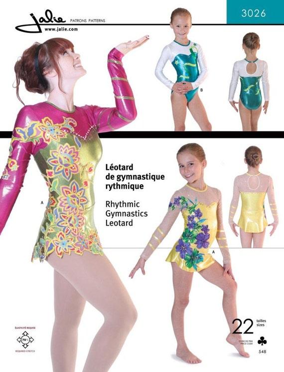Vestido de leotardo de gimnasia rítmica Jalie girando patrón