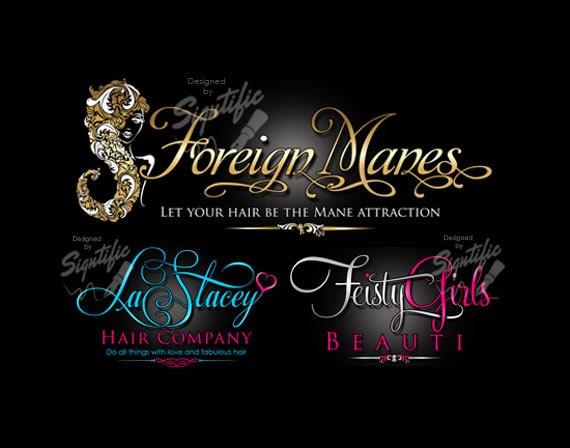Lovely Hair Business Logo Logo Design Custom Logo Design Logo FE12