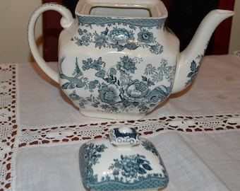 Enoch Wdgwood (Tunstall) Ltd., Asiatic Pheasants teapot AF (as Found)
