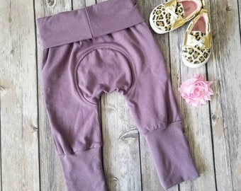 Miniloones, Grow With Me Pants Light Purple Baby Pants, Toddler Maxaloones Leggings