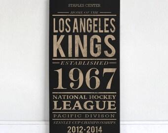 Los Angeles Kings - Wood Sign
