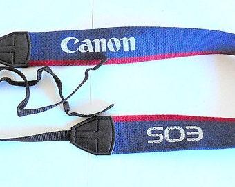 Original Canon EOS Camera Neck/Shoulder Strap - Blue/Red