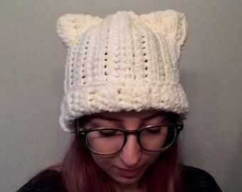 Cat Ear Hat - Cat Toque- Cat Hat - Cat Beanie - Cat Lover - Cat Accessories
