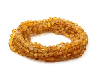 Amber Wholesale LOT - 10 Raw Honey Amber Baby Necklaces, Available in 12.6 inches Length (32 cm), Made from Unpolished Baroque Amber Beads