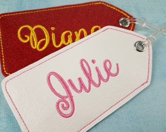 Personalized Luggage Tag, Embroidered Name, Personalized Tag, Backpack Tag, Business Card Tag, Custom Name Tag, Diaper Bag Tag, Carried Away
