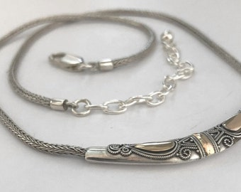 Balinese Necklace Sterling Silver Chain with 14k Vermeil