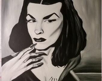 original Vampira 18x24 oil painting